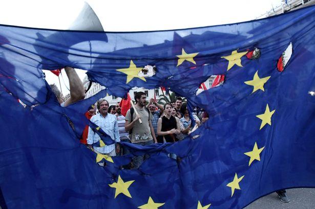 euro flag brexit