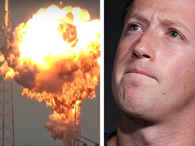 O rachetă SpaceX a distrus satelitul lui Zuckerberg
