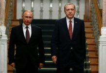 Russian President Putin and his Turkish counterpart Erdogan