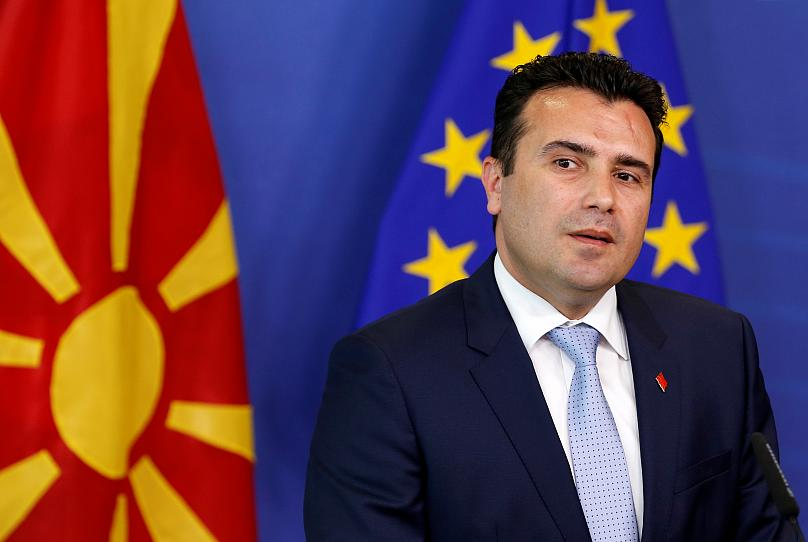FYR Macedonia's pro-EU prime minister Zoran Zaev during talks in Brussels. Reuters