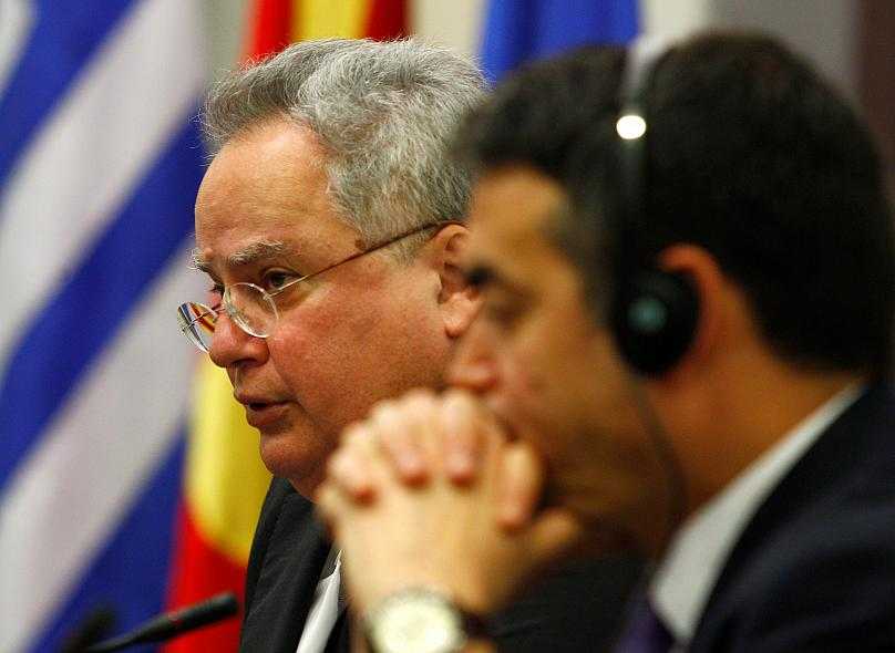 Foreign ministers of FYR Macedonia and Greece meet for talks about the name dispute. Reuters