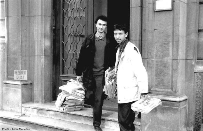 Marius Tuca si Dan Diaconescu 1991